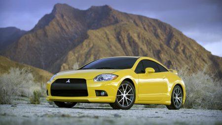 cars, mitsubishi, yellow