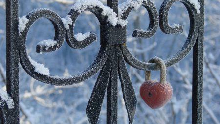 castle, snow, fence