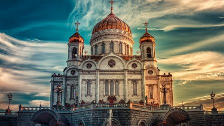 cathedral of christ the savior, russia, moscow