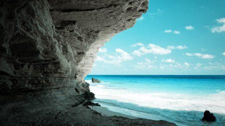 cave, sea, coast
