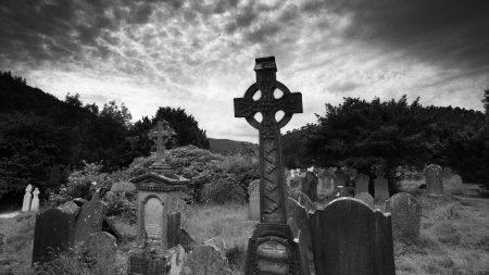 cemetery, crosses, grave