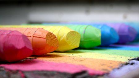 chalk, pencil, colored