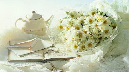 chamomile, flowers, bouquet