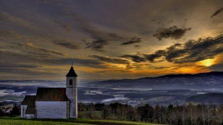 chapel, mountains, eminence