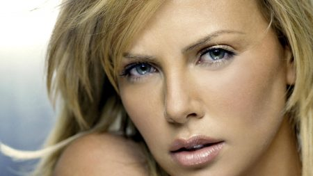 charlize theron, actress, face