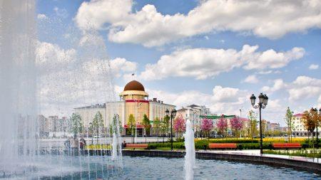chechnya, grozny, flowers