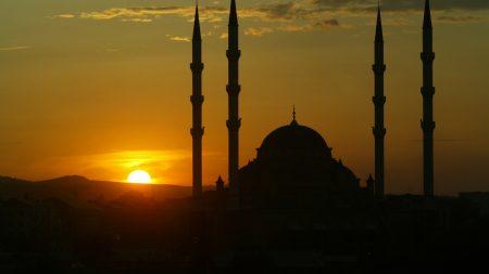 chechnya, sunset, sky