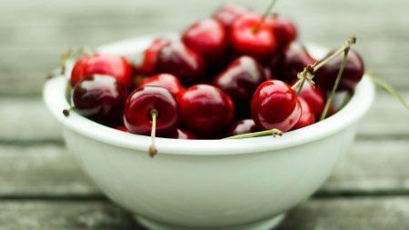cherry, berry, plate
