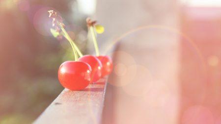cherry, glare, berries
