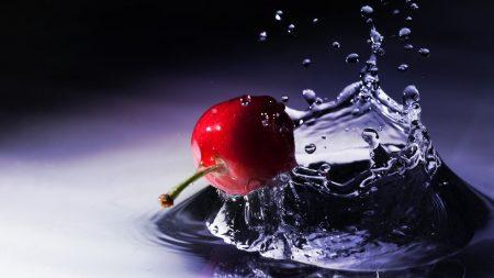 cherry, spray, splash