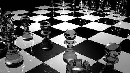 chess, board, glass