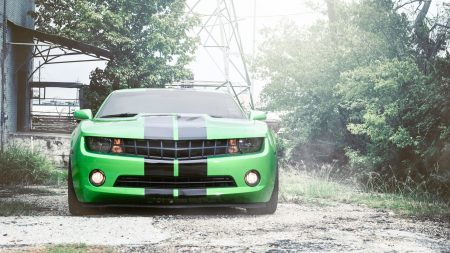 chevrolet, camaro, green