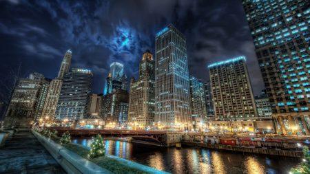 chicago, river, bridge