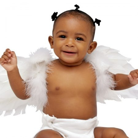 child, angel wings, baby