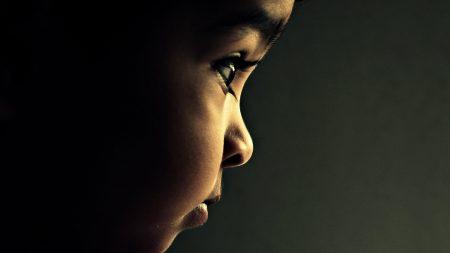 child, eyes, profile