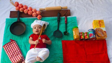 child, food, cook