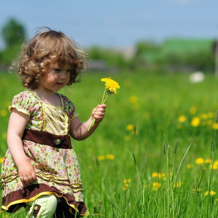 child, girl, grass