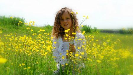 child, girl, hair