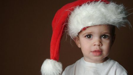 child, hat santa claus, expectation