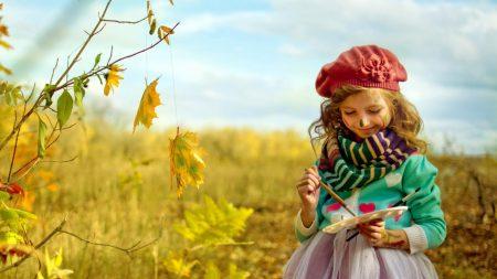 child, painter, palette