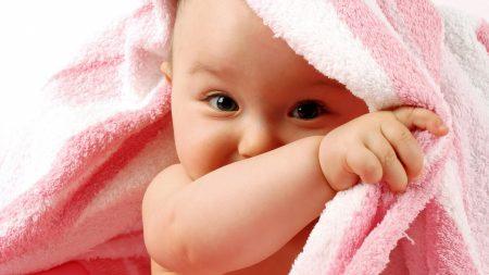 child, toddler, towel