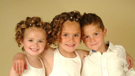 children, three, smile