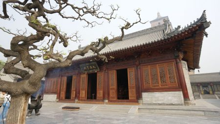 china, building, trees