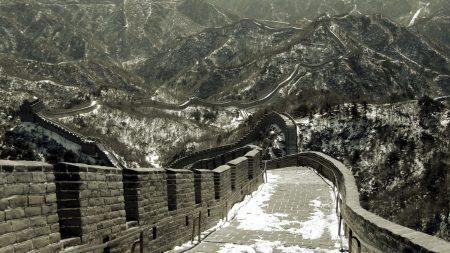 china, chinese wall, road