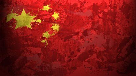 china, flag, background