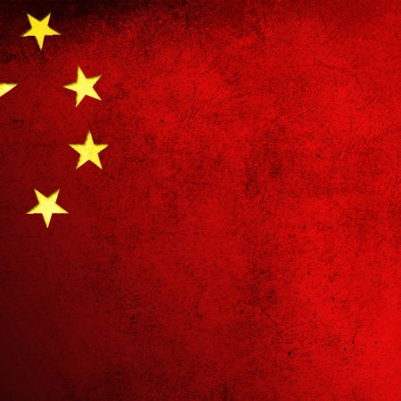 china, flag, red
