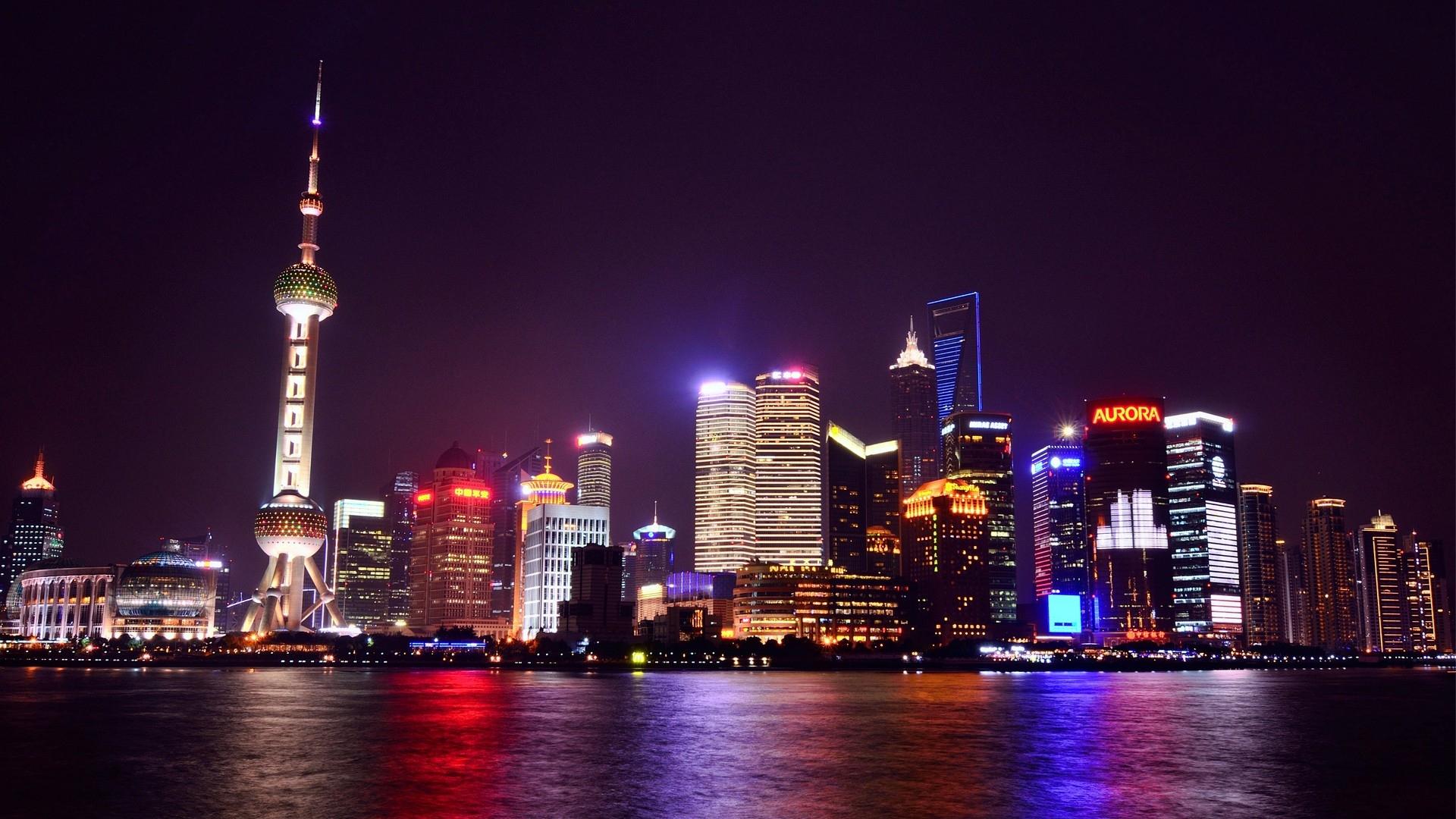 Earnings Disclaimer >> Download Wallpaper 1920x1080 china, shanghai, night city ...