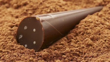 chocolate, sweet, cone