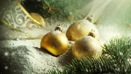 christmas decorations, balloons, gold