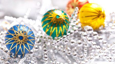 christmas decorations, colorful, balls