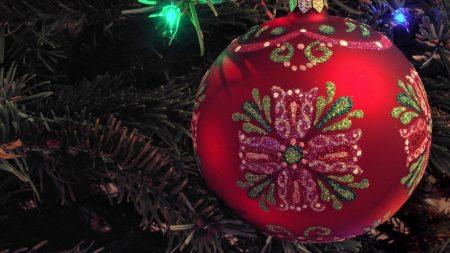 christmas decorations, garland, ball
