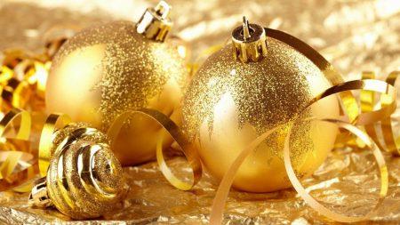 christmas decorations, gold, glitter