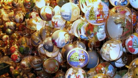 christmas decorations, new year, balloons