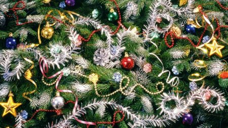christmas decorations, ornaments, tree
