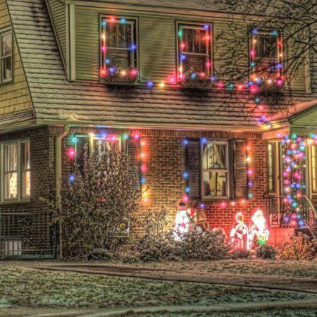 christmas, holiday, house