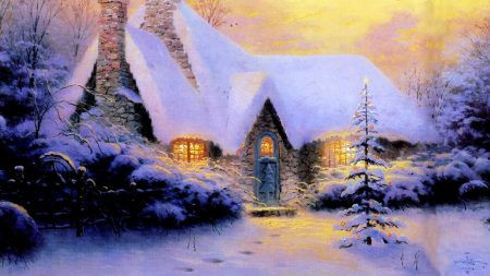 christmas, new year, house