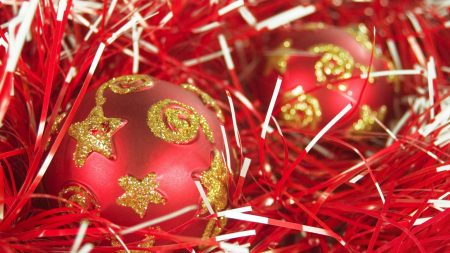 christmas, new year, spheres