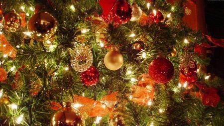 christmas tree, christmas decorations, garlands
