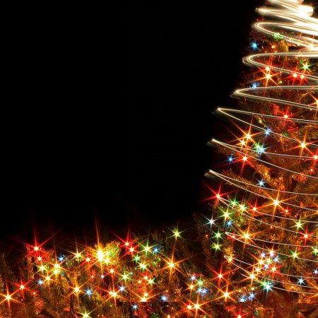 christmas tree, garlands, holiday