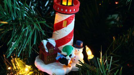 christmas tree, garlands, house