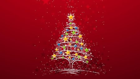 christmas tree, star, background