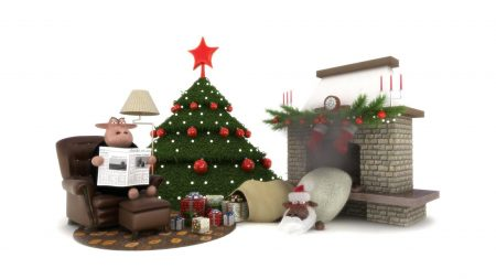 christmas tree, star, fire