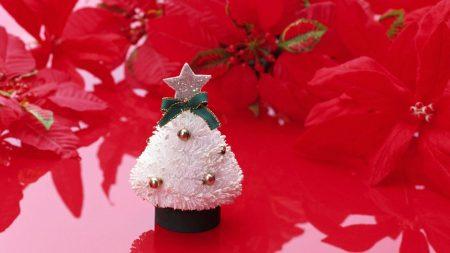 christmas tree, star, flower
