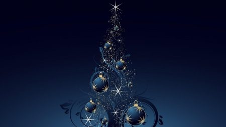 christmas tree, star, toys