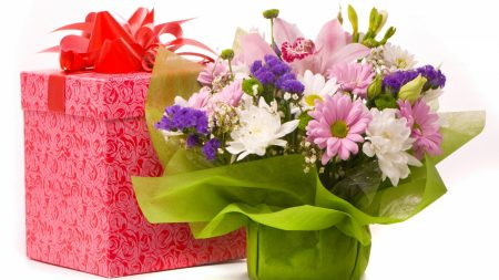 chrysanthemums, lilies, flowers
