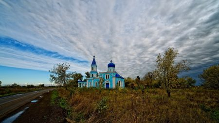 church, temple, road